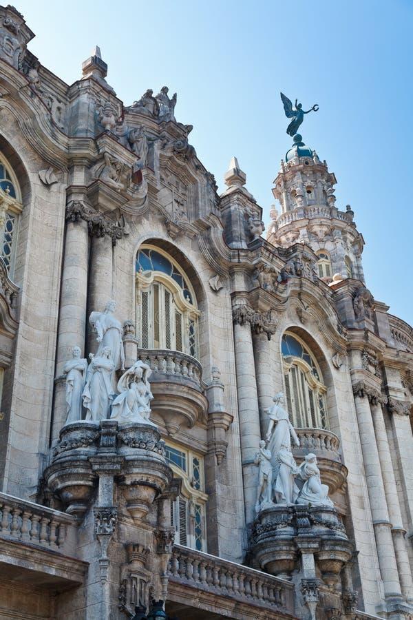 Grande teatro de Havana fotos de stock royalty free