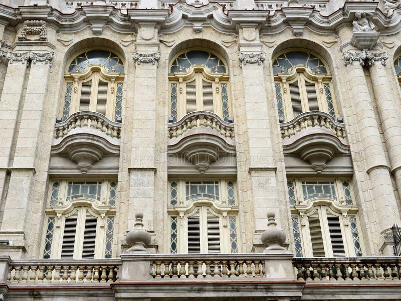 Grande teatro de Havana, Cuba imagens de stock royalty free