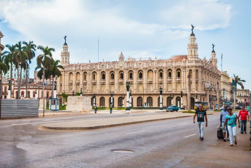 Grande Teatro de Havana em Cuba foto de stock royalty free