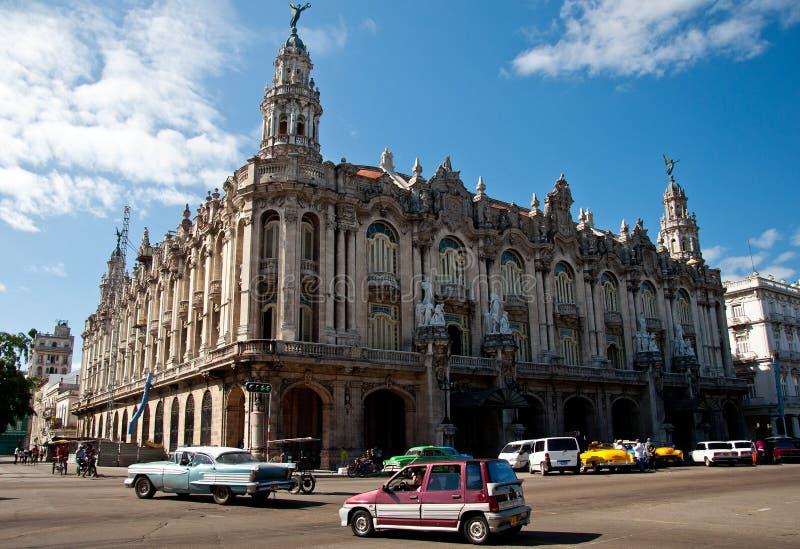 Grande teatro em Havana, Cuba imagens de stock