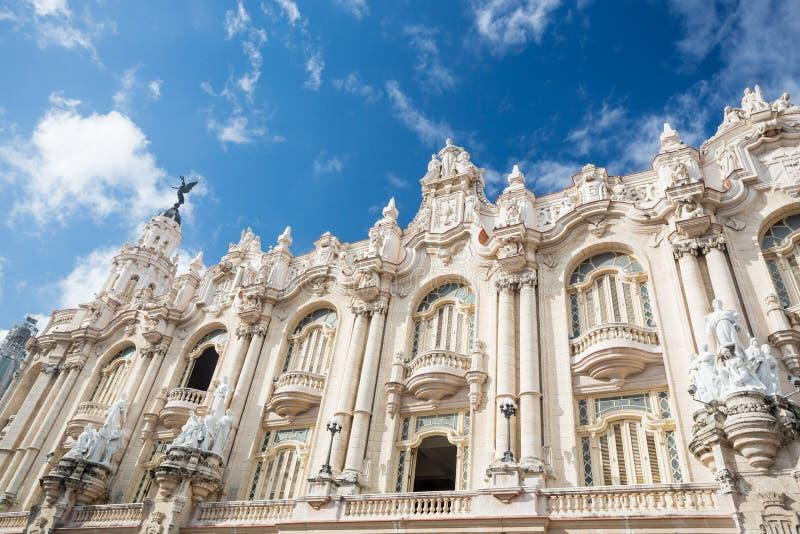 Grande teatro, Havana, Cuba fotografia de stock royalty free