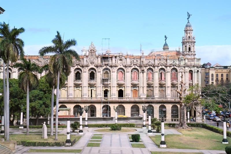Grande teatro, Havana, Cuba imagens de stock