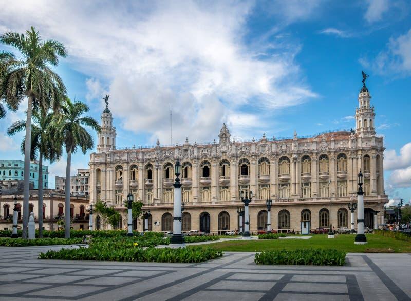 Grande teatro - Havana, Cuba foto de stock royalty free