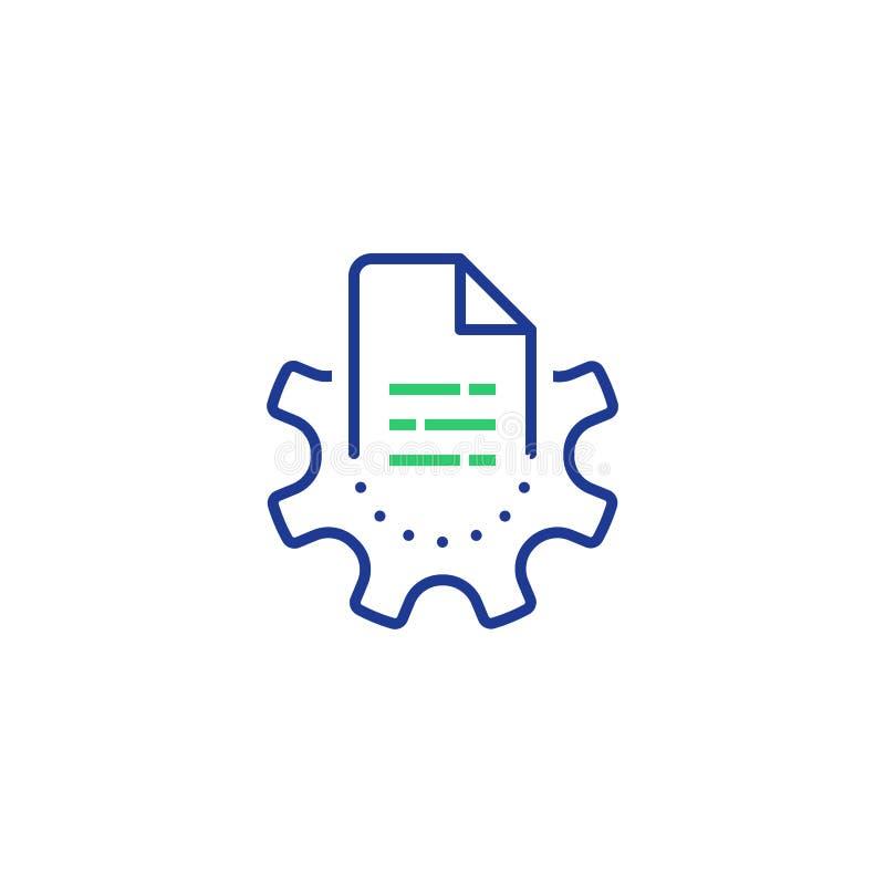 Grande tecnologia, registrazione ed analisi dell'elaborazione dei dati, catturanti informazioni digitali, documento manuale royalty illustrazione gratis