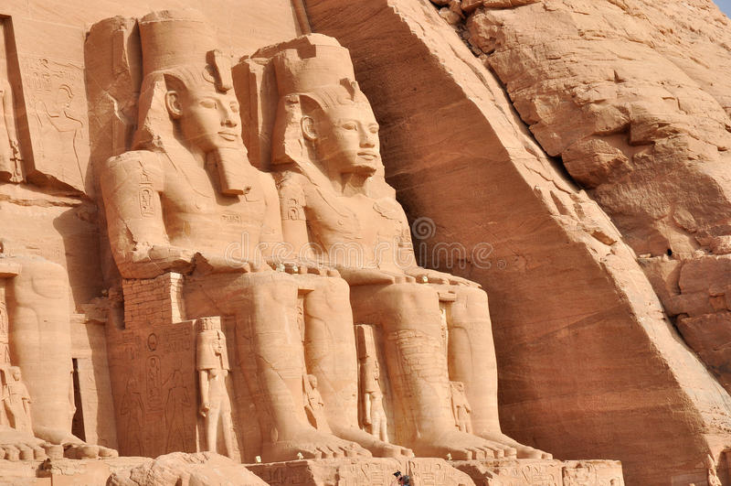 Grande templo de Abu Simbel em Egipto imagens de stock royalty free