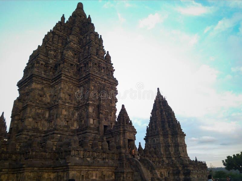 Grande templo de Prambanan fotos de stock