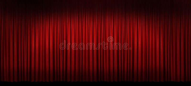 Grande tenda rossa della fase fotografia stock