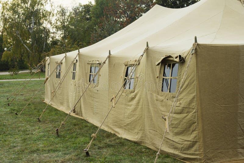 Grande tente militaire photographie stock