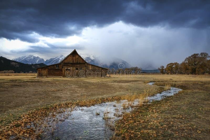 Grande Tetons granaio del Wyoming, fila mormonica fotografia stock