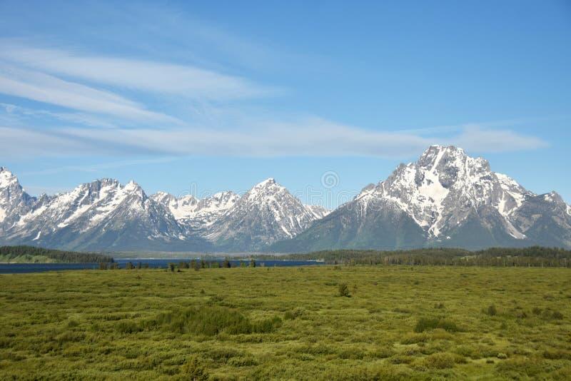 Grande Tetons nel Wyoming fotografia stock libera da diritti