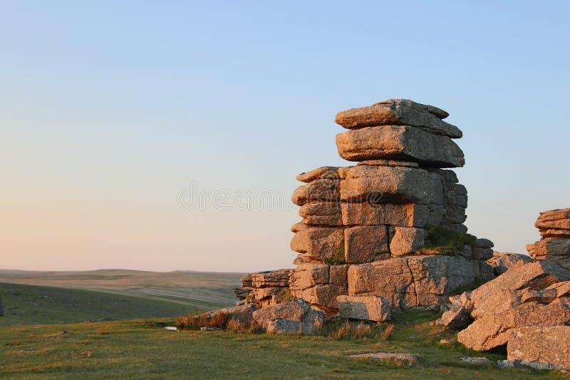 Grande tor della graffetta di Dartmoor fotografia stock libera da diritti