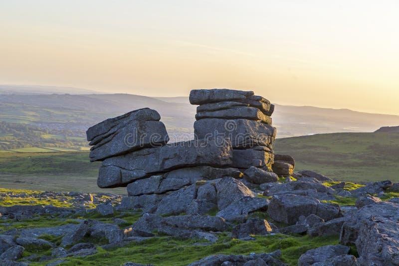 Grande tor della graffetta di Dartmoor immagine stock libera da diritti