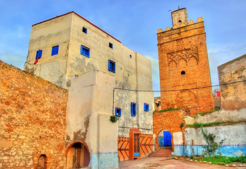 Grande torre della moschea in Safi, Marocco immagine stock libera da diritti