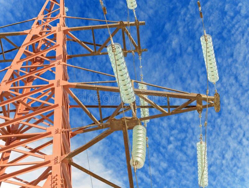 Grande torre di elettricità fotografia stock