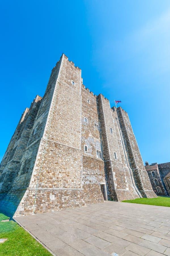Grande torre em Dover Castle imagens de stock