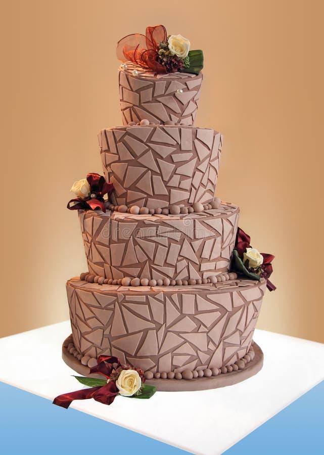 Grande torta nunziale immagine stock libera da diritti