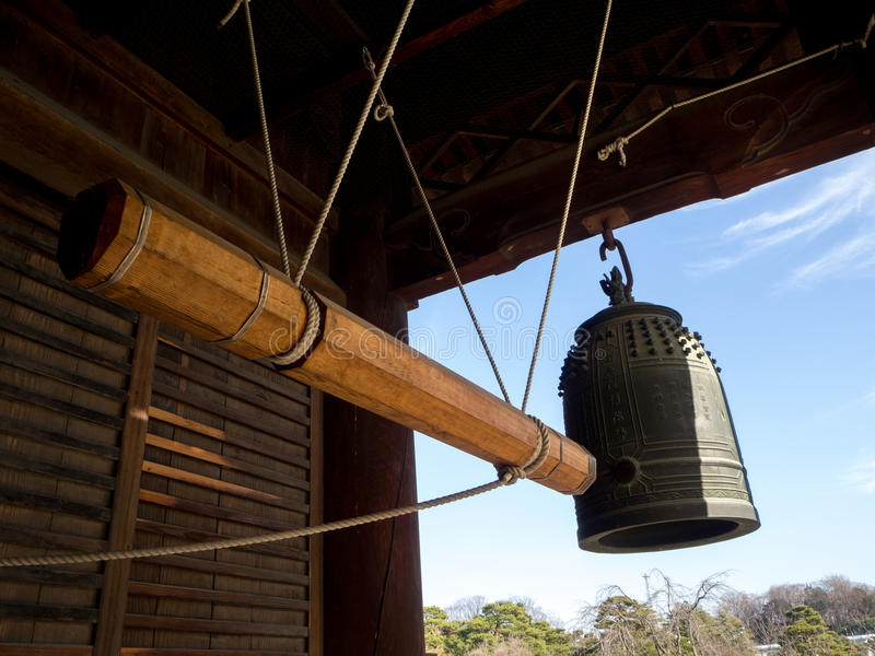 Grande tour de Bell de temple chez le Japon photographie stock