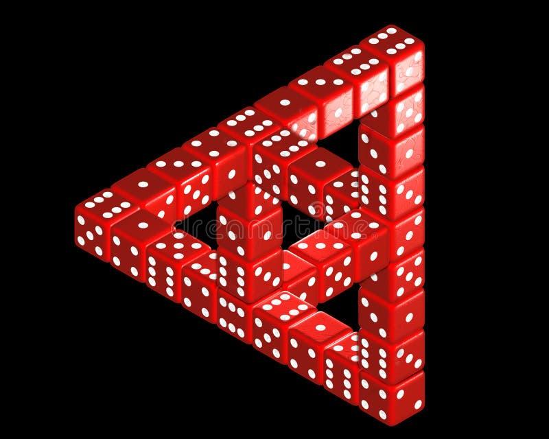 Grande triangle de Penrose des matrices photographie stock