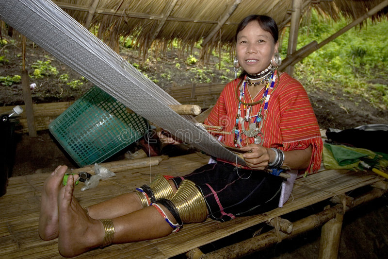 grande tribu de côte asiatique de boucles d'oreille photographie stock libre de droits
