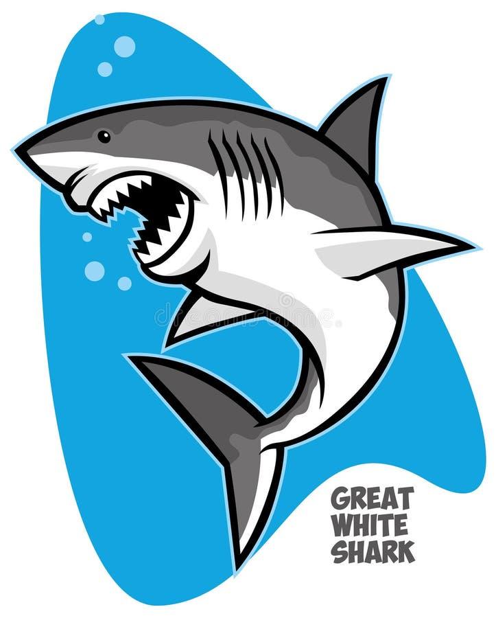 Grande tubarão branco ilustração royalty free