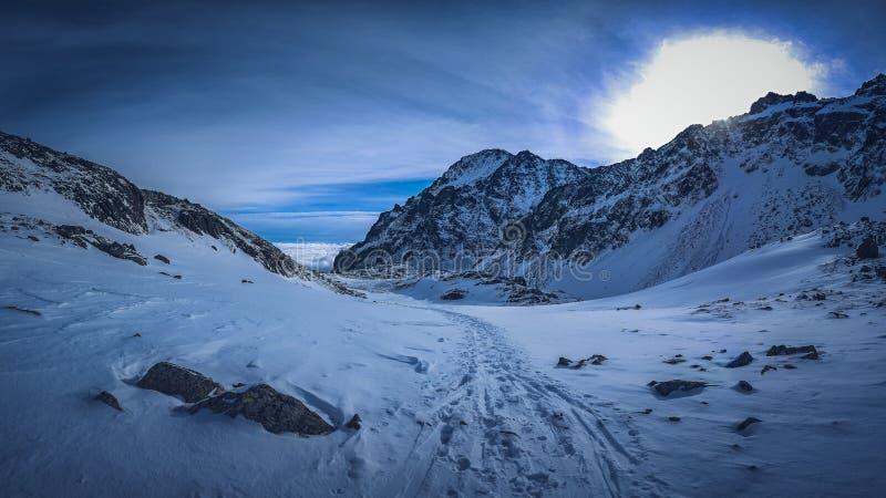 Grande valle fredda Dolina del ¡ di Studenà del ¡ del kà del ¾ di VeÄ Alti tatras immagini stock
