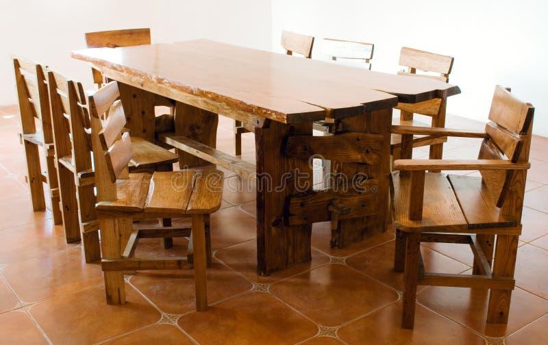 Grande vecchia tabella di legno immagini stock