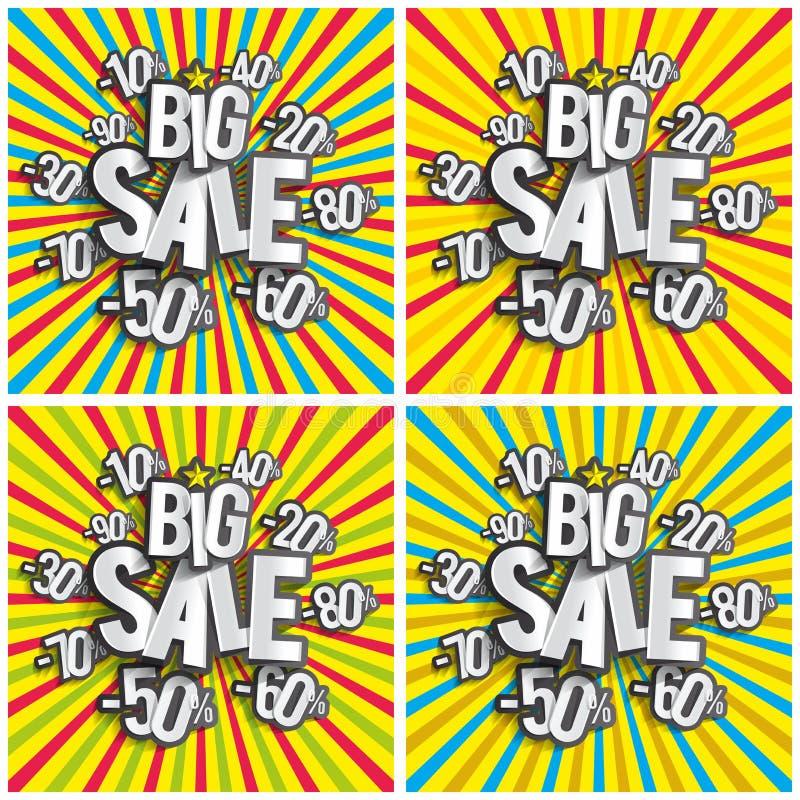 Grande vendita di hard discount royalty illustrazione gratis