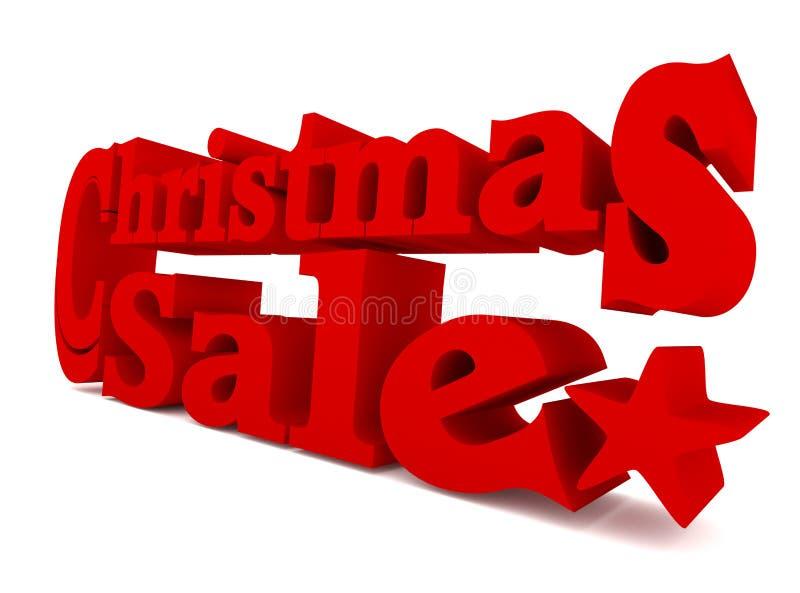 Grande vendita rossa di Natale, rappresentazione 3d royalty illustrazione gratis