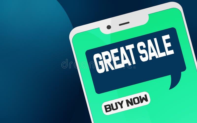 Grande vendita sul telefono cellulare royalty illustrazione gratis
