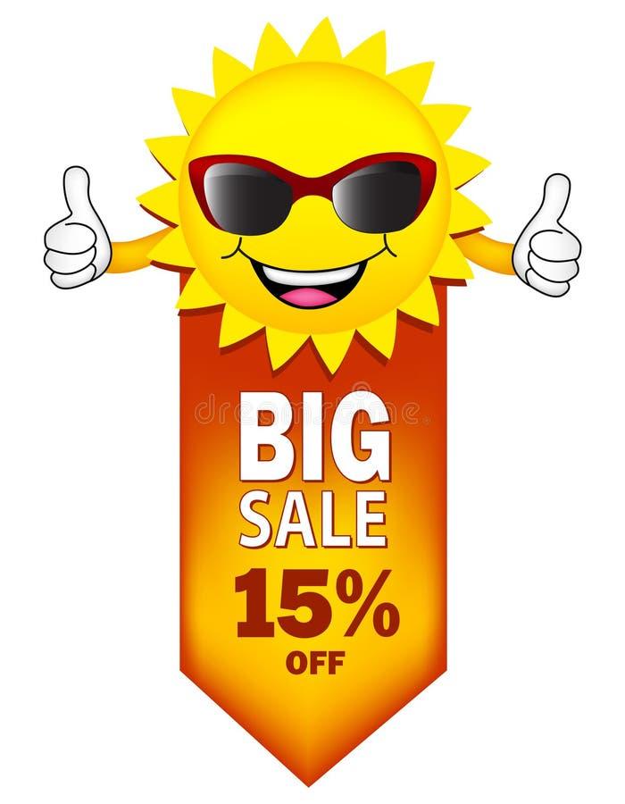 Grande vente illustration stock