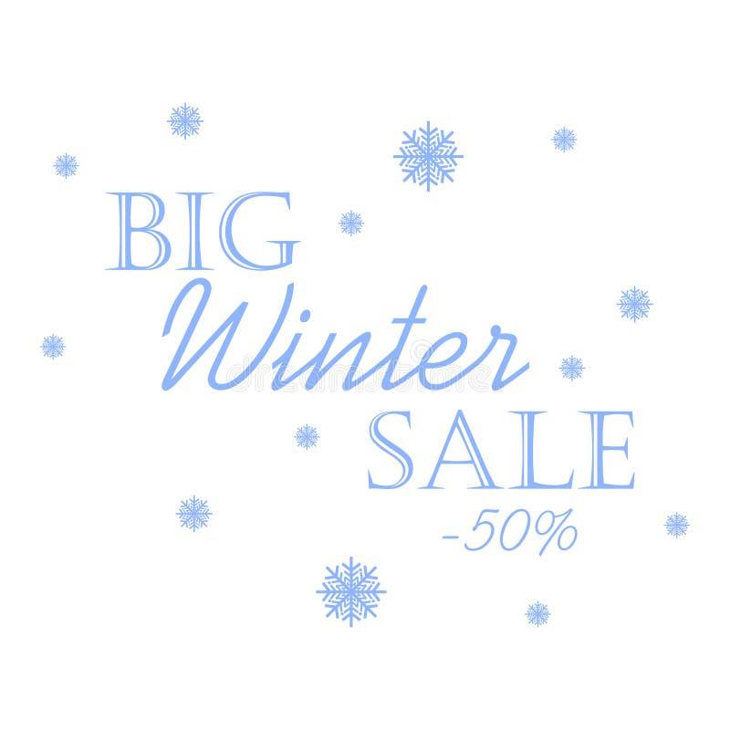 Grande vente d'hiver illustration libre de droits