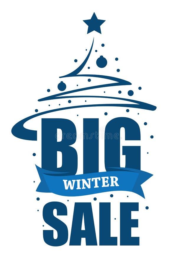 Grande vente d'hiver d'inscription illustration stock