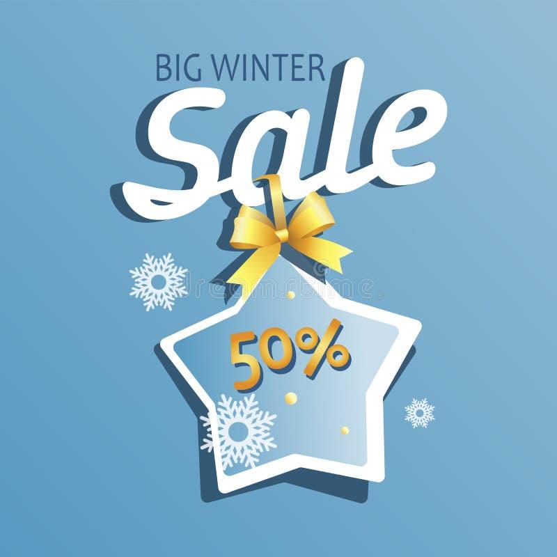 Grande vente d'hiver Message avec un astérisque illustration stock