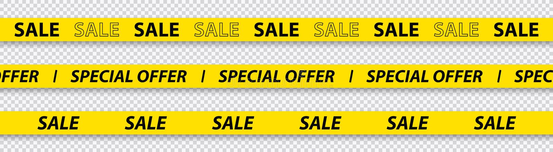 Grande vente, remise, vente méga, bandes d'offre, rouges et jaunes spéciales d'isolement sur le fond transparent Illustration de  illustration de vecteur