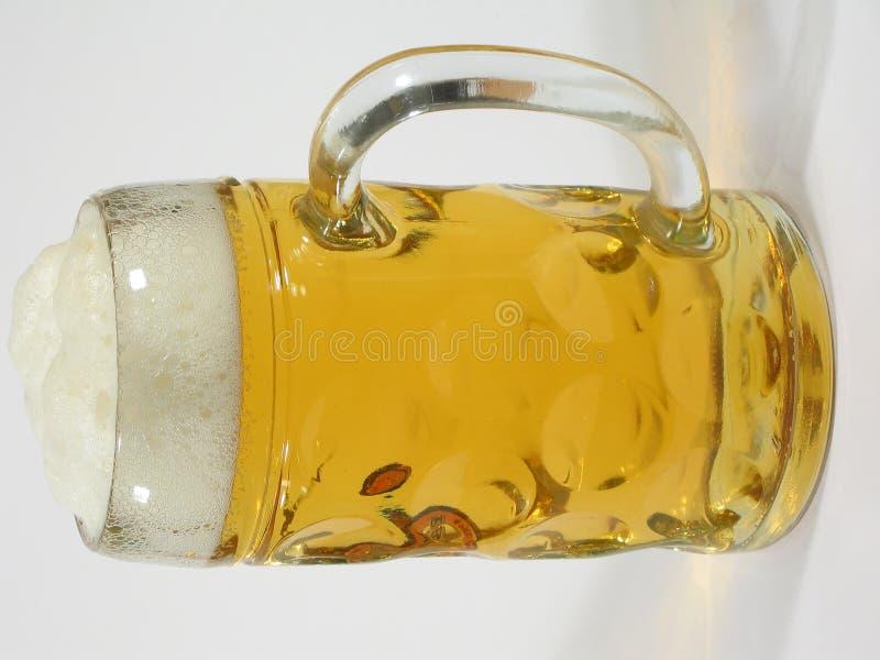 Grande vetro di birra fotografia stock libera da diritti