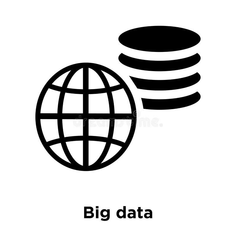 Grande vettore dell'icona di dati isolato su fondo bianco, concetto di logo royalty illustrazione gratis