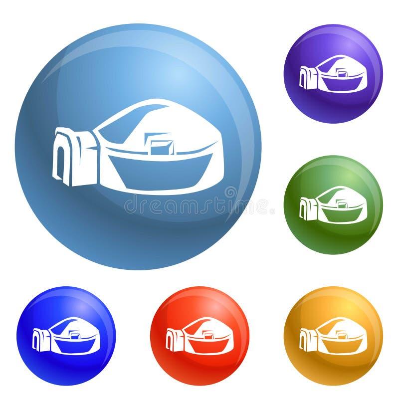 Grande vettore dell'insieme delle icone dell'iglù royalty illustrazione gratis