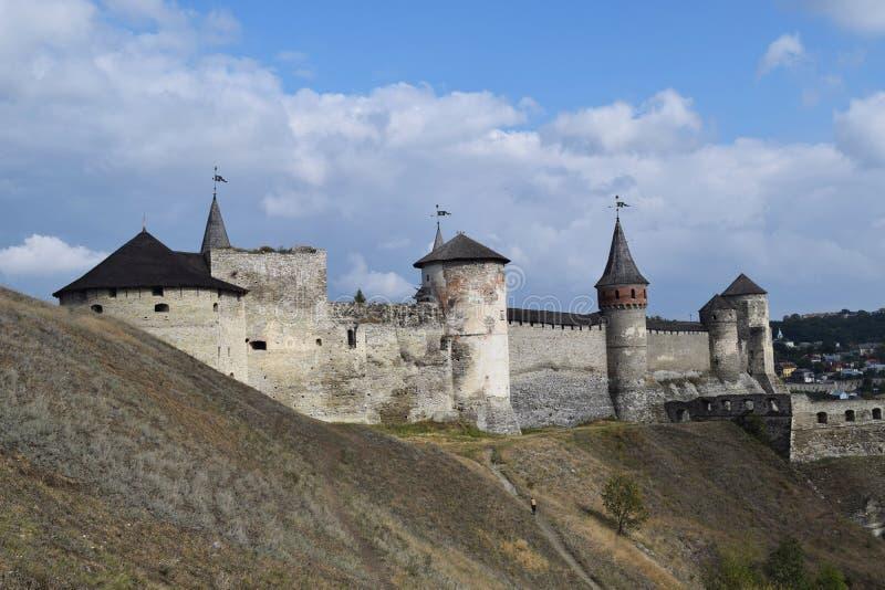 Grande vieille forteresse défensive en Ukraine photo libre de droits