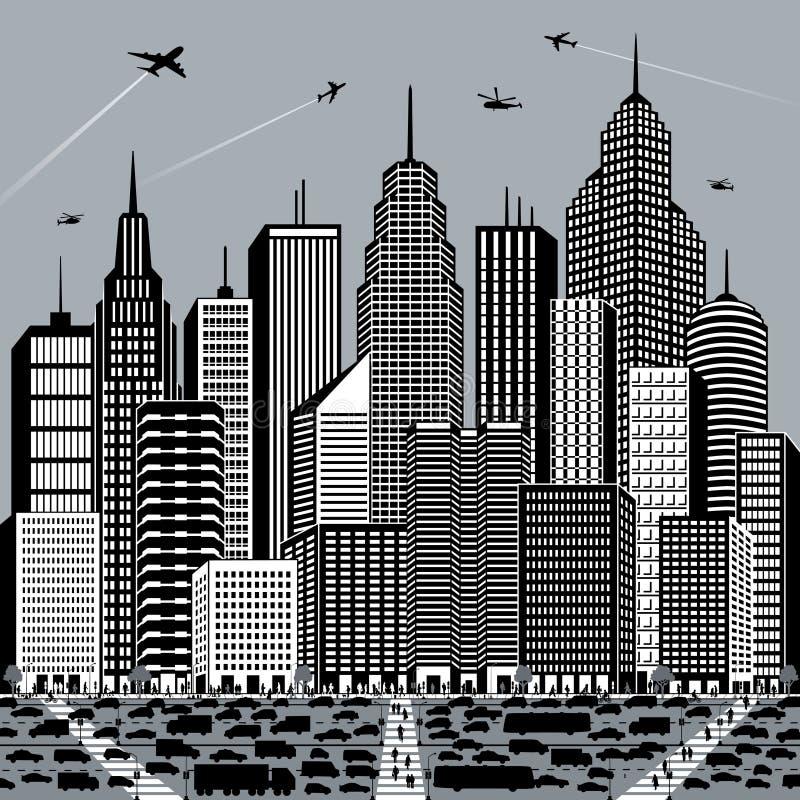 Grande ville illustration stock