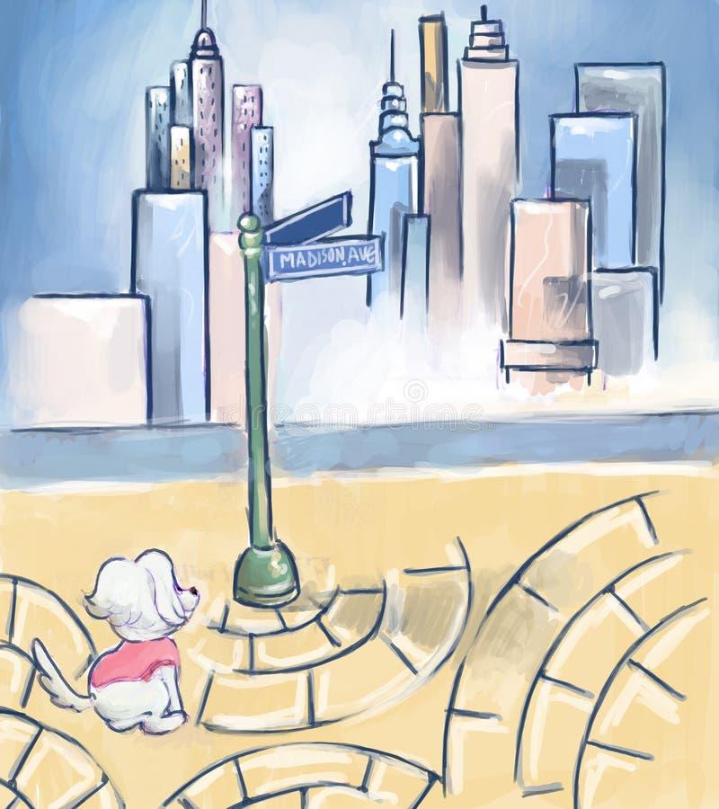 Grande ville illustration libre de droits