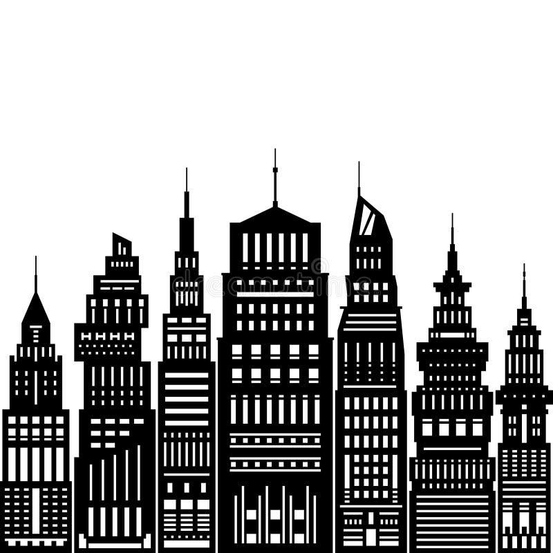 Grande ville moderne illustration de vecteur