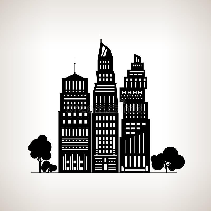 Grande ville moderne illustration libre de droits