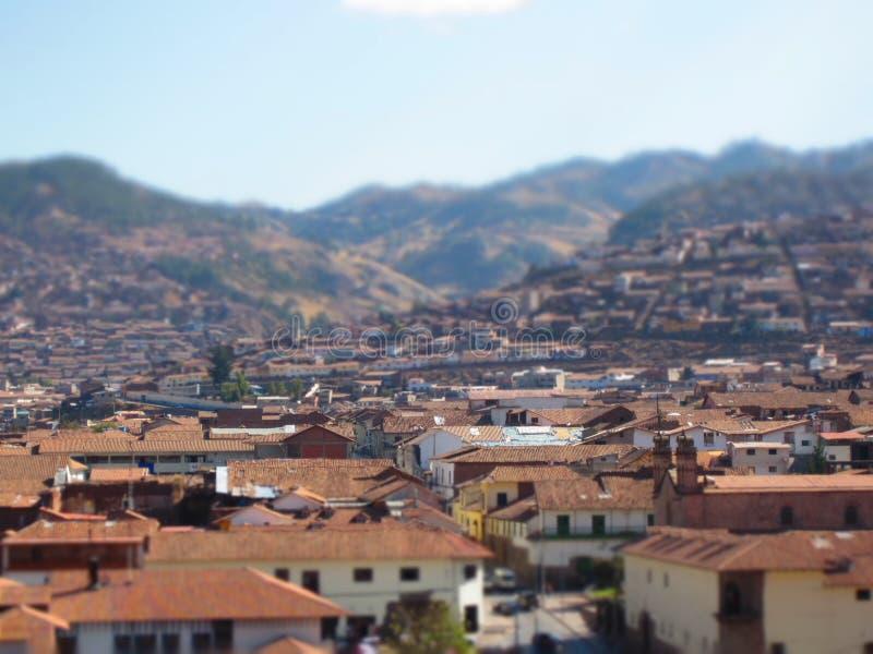 Grande vista da cidade de Cusco no Peru foto de stock royalty free