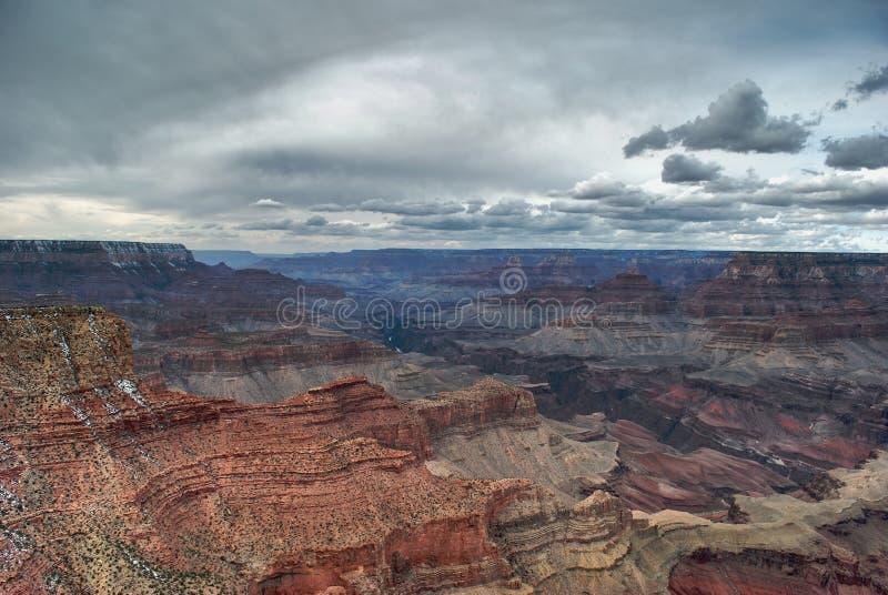 Grande vista del grande canyon fotografie stock libere da diritti
