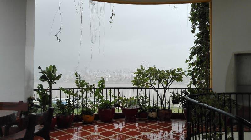 Grande vista della pioggia fotografie stock