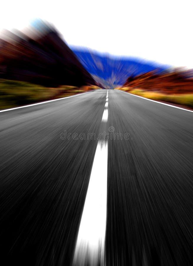 Grande vista panoramica di velocità fotografia stock