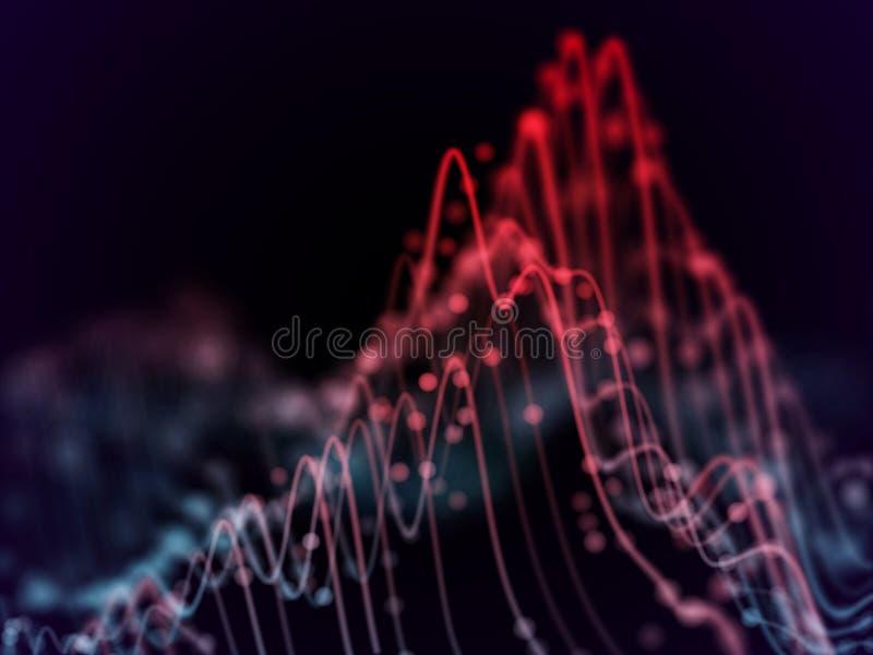 Grande visualisation d'abrégé sur données : analytics de graphiques de gestion illustration de vecteur