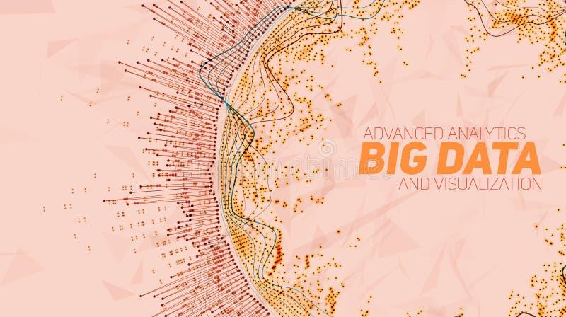 Grande visualisation de circulaire de données Infographic futuriste Conception esthétique de l'information Complexité de données  illustration libre de droits