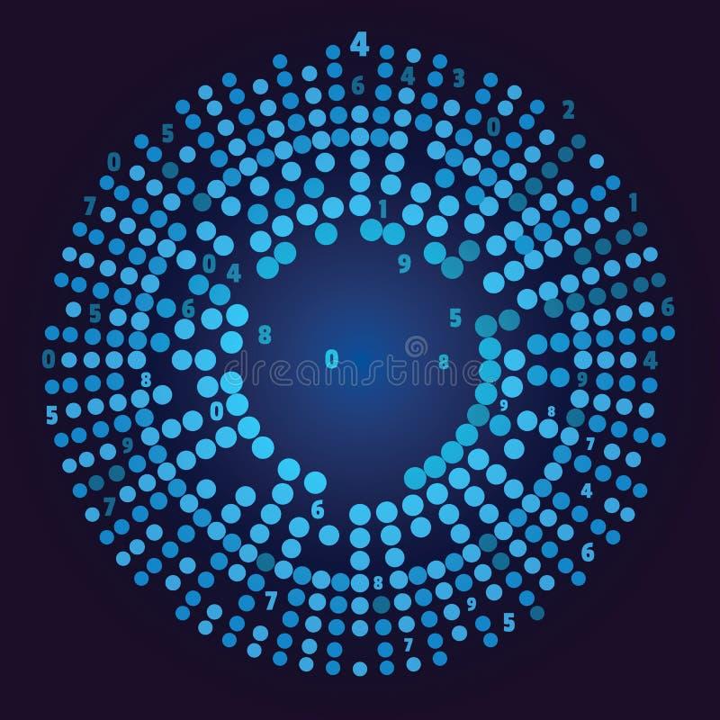 Grande visualisation de données Représentation sociale de réseau illustration de vecteur