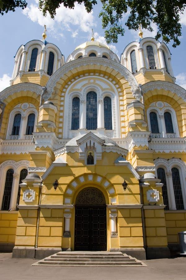 Grande Vladimir Cathedral in Kyiv - uno dei punti di riferimento di maggiore del ` s della città e della cattedrale della madre d fotografia stock